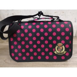 Charity Sale- Rabbit Carrier (Black with red dots)
