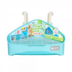 Charity Sale- Jolly Triangle Rabbit Toilet ( Blue ) (No Wire base and Clips)