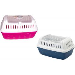 Moderna Hipster Pet Carrier- L Size (Hot Pink/ Blue Berry)