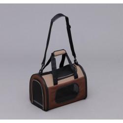 IRIS OHYAMA POTC-410A Foldable Pet Bag S Size (Brown/ Pink)