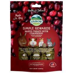 Oxbow Simple Rewards Baked Treats with Cranberry 3oz