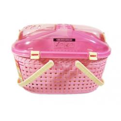 IRIS Mesh Basket Pet Carrier MPC-450 (Pink)