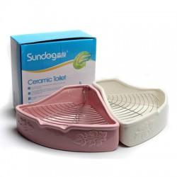 Sundog triangle ceramic toilet