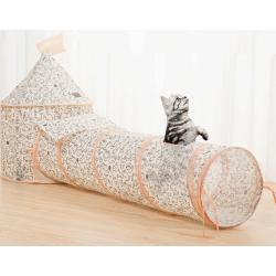 黑白貓貓帳篷+96cm隧道(套裝)
