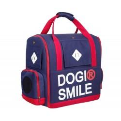9成新 二手Dogismile 通風寵物背包 (藍色)